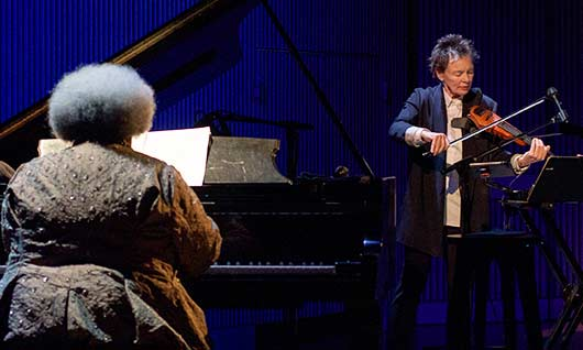Famed multimedia artist and composed Laurie Handerson and Bay Area piano legend Tammy L. Hall